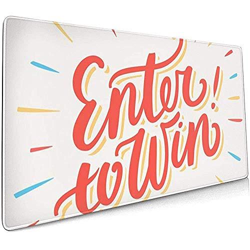 Weled Computer Keyboard Gaming Mouse Pad - Wettbewerb teilnehmen, um Chance Gewinnspiel Word Lucky Play zu gewinnen