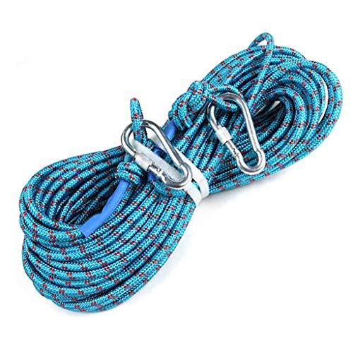 LXYFMS - Cuerda de Escalada (Longitud de la Cuerda de Acampada/cojinete/conducción/Resistencia de Buceo 10/20/30/40/50 m), Color Azul