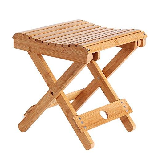 TangMengYun Tabouret Pliable à Main Portable Tabouret intérieur et extérieur en Bambou en Deux Tailles (Couleur : A)