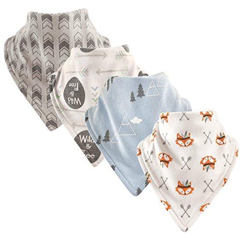 Luvable Friends Unisex Baby Cotton Bandana Bibs, Wild Free, One Size