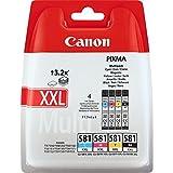 Canon CLI-581XXL 4 Cartuchos Multipack tinta original Negro/Cian/Magenta/Amarillo XXL para impresora de inyeccion de tinta PIXMA TS9150, TS6151, TS9155, TS6150, TS8151, TR8550, TR7550, TS8150, TS8152