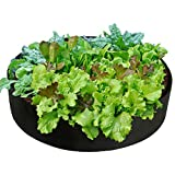 "Smirdx Plant Grow Bag, Large Heavy Duty Fabric Grow Pot for Durable Breathe Cloth Planting Container for Potato Carrot Onion, Gardening Outdoor (Dia: 24"" x H: 8"" / 15 Gallon, Black)"