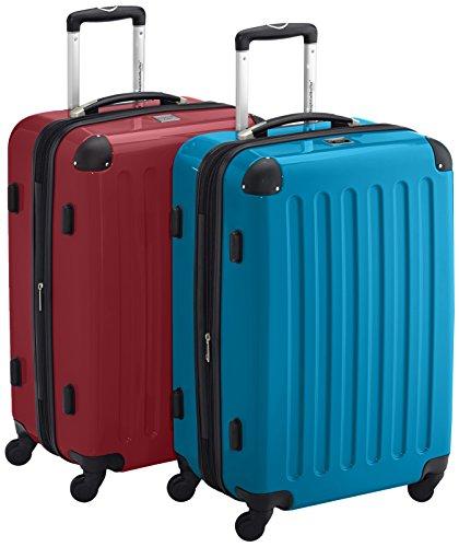 HAUPTSTADTKOFFER - Alex - 2er Koffer-Set Hartschale glänzend, TSA, 65 cm, 74 Liter, Rot-Blau