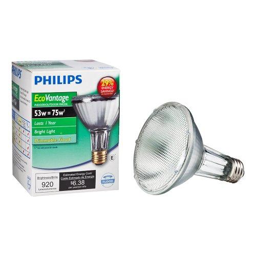 Philips Halogen PAR30L Flood Light, 920 Lumen, Bright White Light (2900K), 53W=75W, E26 Base, 1-Pack