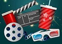 写真のHDMovieシアター背景7x5ftシネマテーマパーティーの背景カスタマイズされたスタジオの背景スタジオの小道具 0391