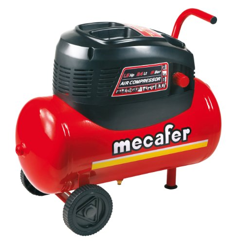 Mecafer 425068 Kompressor 24 l 1,5 PS ölfrei
