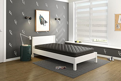 Signature Sleep Mattress, Twin Mattress, 6 Inch Hybrid Coil Mattress, Black, Twin