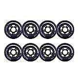 Rollerex VXT500 Inline Skate Wheels (8-Pack) (Steel Black, 80mm)