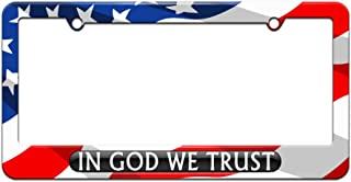 Graphics and More in God We Trust Black - USA - License Plate Tag Frame - American Flag Design