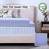 HouHai Memory Foam Mattress Topper 2.5/3/4 inch Queen King Twin Full Size - Ventilated Design Comfortable...