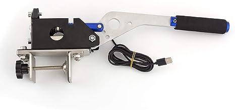 USB SIM Handbrake PC Windows With Clamp for Racing Games G25 G27 G29 T500 FANATECOSW DIRT RALLY Blue