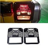 HYGLPXD Cubiertas del Protector de la luz Trasera de la Cola para Jeep Wrangler JK Unlimited 07-18 Accesorios para automóviles compatibles