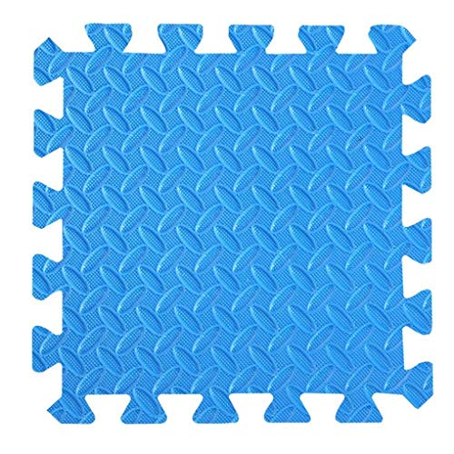 RUIXFRU Soft EVA Foam Baby Play Mats,Puzzle Inside Design Fitness Yoga Mat, Blue, 60 * 60 * 2.0cm