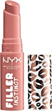 NYX PROFESSIONAL MAKEUP Filler Instinct Plumping Lip Color, Lip Plumper Balm - Beach Casual, Nude Pink