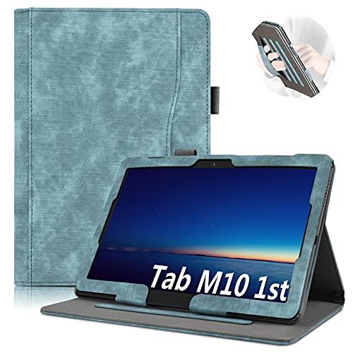 KATUMO Funda para Lenovo Tab M10/P10 10.1 Pulgadas Fundas Lenovo TB-X605F/TB-X505F/TB-X705F con Soporte Funcion y Wallet Slots