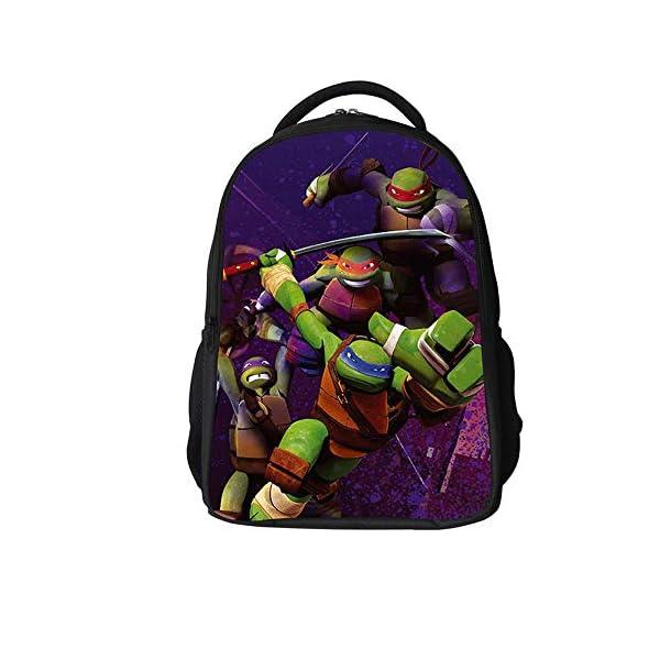 51eN6VTQ6JL. SS600  - Backpack Escuela De Niños Mochila 3D Tortugas Ninja Animado Impreso Historieta Bolsas De Libros Adecuados para Niños De…