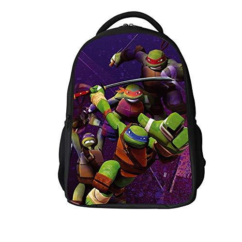 51eN6VTQ6JL - Backpack Escuela De Niños Mochila 3D Tortugas Ninja Animado Impreso Historieta Bolsas De Libros Adecuados para Niños De…