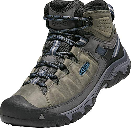 KEEN Men's Targhee iii mid Leather wp-m Hiking Boot, Black Olive/Golden Brown, 9 M US