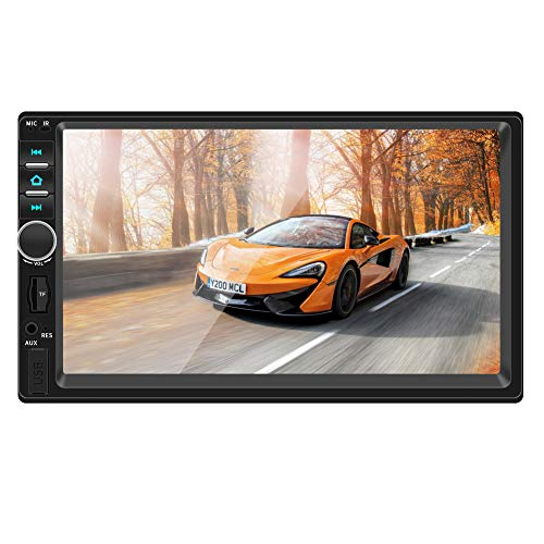 Double Din Car Stereo,TouchScreen Car MP5/4/3 Player with Rear-View Camera,FM Radio Receiver, Bluetooth Audio and Calling, Mirror Link,Support Steering Wheel Remote Control,Support Android & iPhone