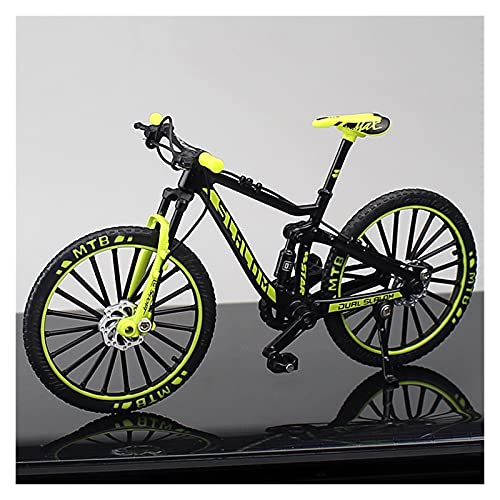Mini Model 1:10 Finger Mountain Bike Alloy Bicycle Diecast Racing Metal Accessories Toy Simulation Collection Toys For Children (Color : Red)