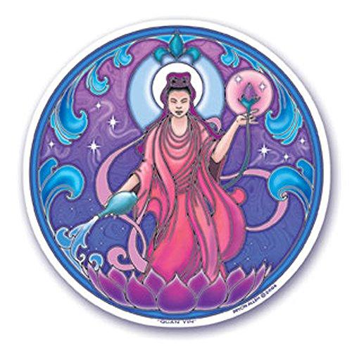 Mandala Arts Colorful Adhesivo Ventana Pegatinas–11,4cm Doble Cara–Quan Yin de Bryon Todos los (S31)
