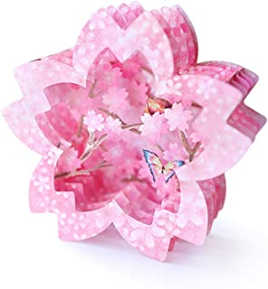 Fusolo 3D Flower Pop Up cards, Cherry Blossoms Card,Birthday Cards, Mom Cards, Greeting Cards (Cherry blossoms)