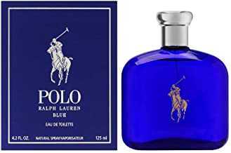 Polo Blue by Ralph Lauren for Men, Eau De Toilette Natural Spray, 4.2 Ounce