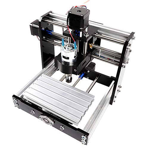 CDFC Mini 5.5W Laser Engraving Machine, 3 Axis PCB Milling Machine with GRBL Control Plastic Acrylic PCB PVC Wood Carving Milling Router Kit, XYZ Working Area 100X180x50mm