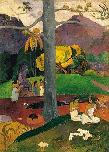 Paul Gauguin mata Mua. In Olden times C1892250gsm lucido arte della riproduzione A3poster