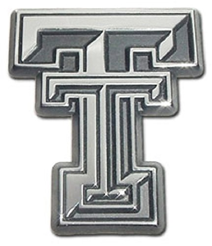 Elektroplate Texas Tech University Red Raider, Premium Chrome Plated Metal, Car Truck Motorcycle Emblem