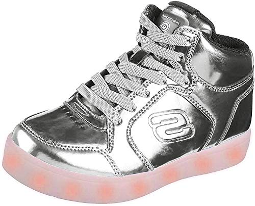 Product Image of the Skechers Kids Energy Lights Eliptic Sneaker,3.5 M US Big Kid,Silver