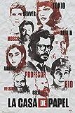Up Close Poster La CASA De Papel - Personnages (61cm x 91,5cm)