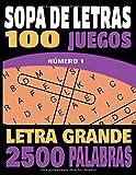SOPA DE LETRAS: Letra Grande | Para adultos  y mayores | 100 Juegos- 1000 Palabras en varios temas | juegos de palabras para las vacaciones o el tiempo libre| idea del regalo