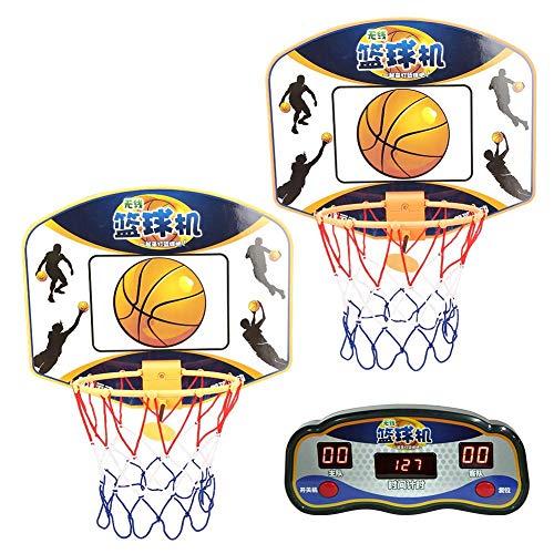 Garsentx Mini Baloncesto Hoop Kids Arcade de Interior Juegos de Baloncesto 2 x Máquina de Tiro con Pantalla LED Pantalla Marcador Actividades y Juegos de Fiesta de cumpleaños para niños