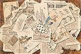 1art1 Zeitungen - Französische Zeitungs-Collage Mit
