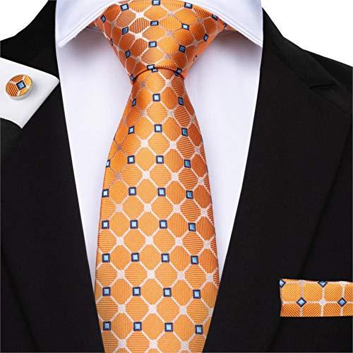 WJZHD 12 Arten Seidenkrawatten für 8,5 cm Orange Farbe Herren Krawatten für Business Hochzeitsanzug Krawatte