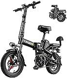 Bicicletas Eléctricas, 350W 14 pulgadas Fat Tire Montaña bicicleta eléctrica Beach moto de nieve for adultos, aluminio Scooter eléctrico engranaje E-bici con la batería de litio extraíble 48V25A ,Bici