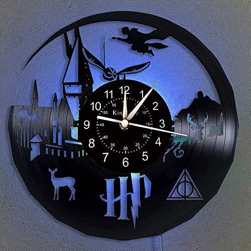 BFMBCHDJ Uhr Vinyl Schallplatte Wanduhr Home Decor Handgemachte kreative Wanduhr Nachtlampe Beleuchtung LED Wand Clcok Keine LED 12 Zoll