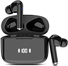 Wireless Earbuds, Bluetooth 5.0 Headphones in-Ear with HD Mic, HiFi Stereo Sound Earphones, Bluetooth Headphones with LED Display, Type-C Quick Charge Case, IP7 Waterproof, 30H Playtime, Touch Control