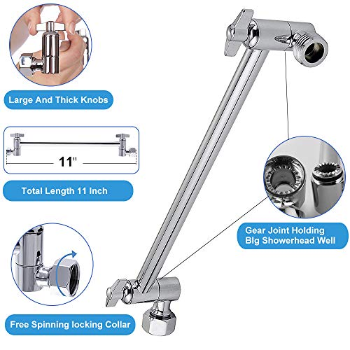 300 Hole High Pressure Water Saving Handheld Shower,Square Shower Head,ABS Full Chrome Surface Beymill Pressurized Shower Head