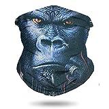 Bandana face mask, Multifunctional Tube Scarf Seamless 3D Motorcycle Neck Gaiter Mask King Kong 2