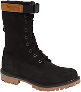 Mens Special Release Leather Gaiter Boots Black Nubuck A1Z2N Size 10