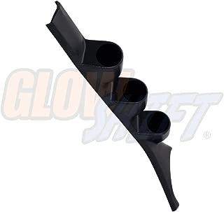 GlowShift Black Triple Pillar Gauge Pod for 1986-1993 Dodge Ram First 1st Generation Cummins - ABS Plastic - Mounts (3) 2-1/16