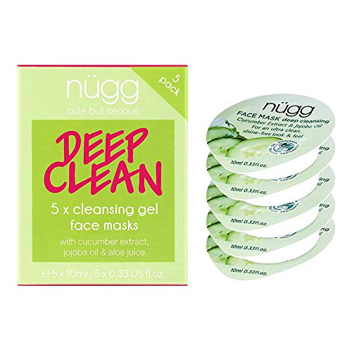nügg Deep Cleansing Clear Skin Face Mask; Set of 5 Masks to Cleanse and help Soothe and Refine Pores; Non-Drying and For All Skin Types; 3 times Allure Best of Beauty Award Winner