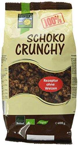 Bohlsener Mühle 100 Percent Schoko Crunchy 400 g, 4er Pack (4 x 400 g)