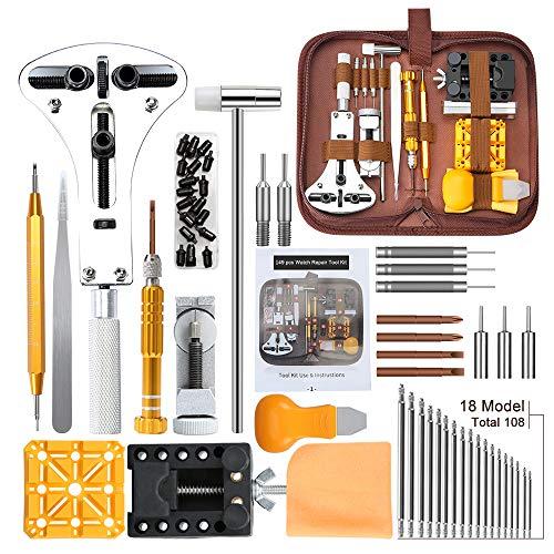 Kit de Reparación de Relojes,E·Durable Herramientas de Reloj, con Abridor de Repara...