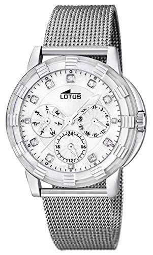Lotus Watches Reloj para Mujer Analógico de Cuarzo con Brazalete de Acero Inoxidable 15746/K