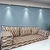 Spirit of 76 - Juego de sofá de suelo modular para sillones de banco, diseño bohemio, SHI_FS3110