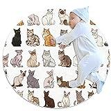 Krabbelmatten rutschfeste Fußmatten Kindergarten Kinderspielmatten Kinderteppich Spielmatten Kinderspielmatten,Tierkatze