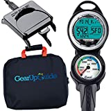 Cressi Giotto C2 psi Dive Computer Console, Scuba Diving Instrument w/Download Cable and GupG Reg Bag